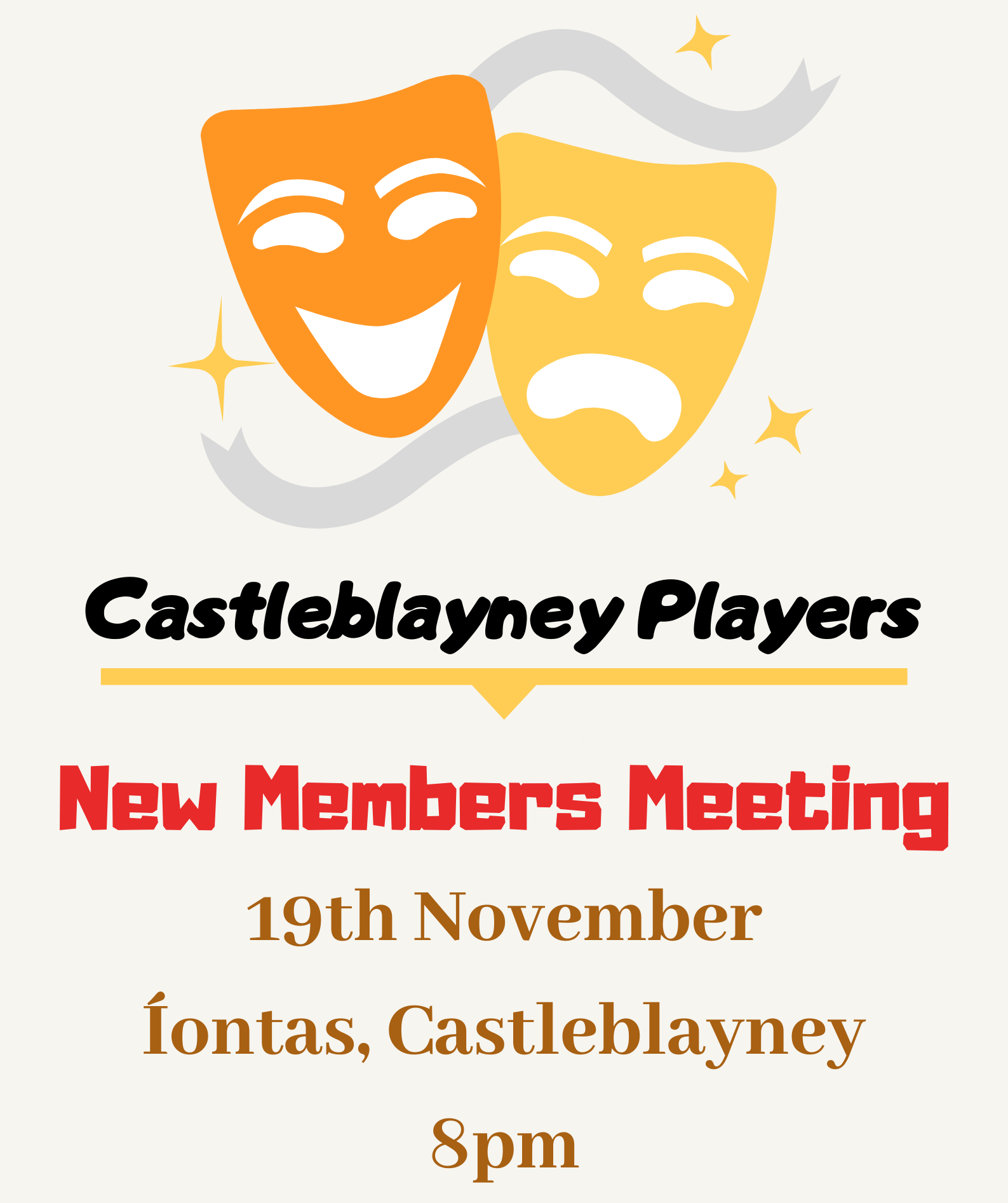Upcoming Events in Iontas Theatre - Castleblayney