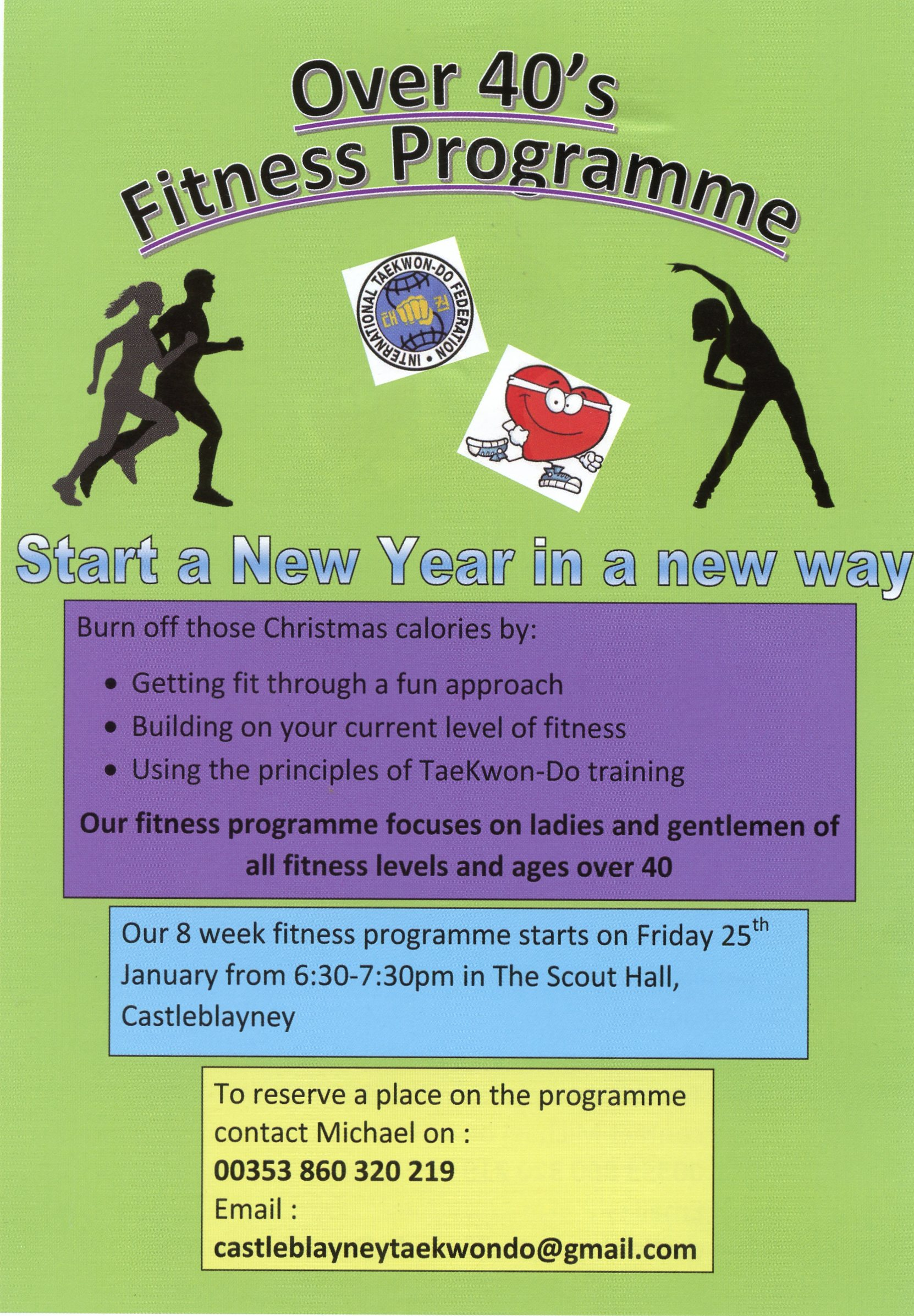 fc9729d3493 The 8 week fitness programme will start on Friday 25th January 6.30pm to  7.30pm in the Scout Hall