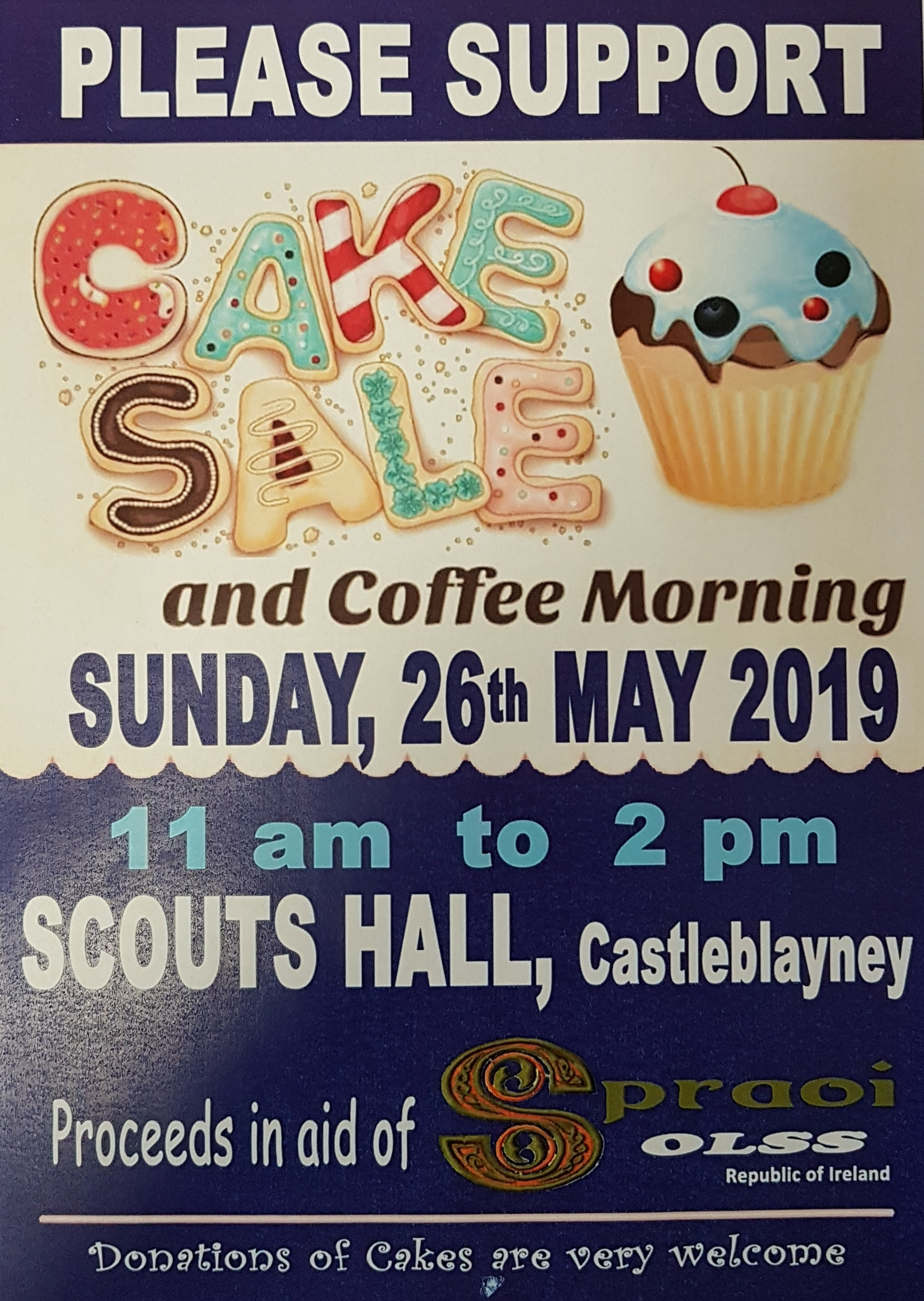 cc2e241a2d3 Our Lady s Secondary School will hold a coffee morning and cake sale on  Sunday 26th May from 11am to 2pm in Scout Hall